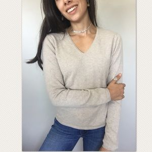 Just Cashmere by Forte tan 100% cashmere sweater